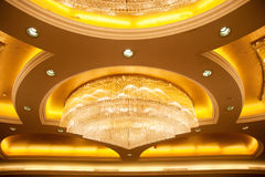 BCrystal Chandelier in the hall Royalty Free Stock Image