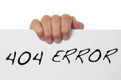 404 błąd Zdjęcia Stock