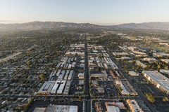 Bd. de Reseda de vue aérienne à Los Angeles photo stock