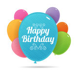 Bday Colorful Balloons Royalty Free Stock Image