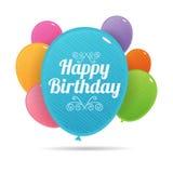 Bday Kleurrijke Ballons Royalty-vrije Stock Afbeelding