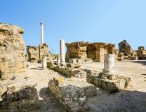 Bäder von Antonius in Karthago Tunesien Stockbilder