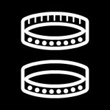 BDSM collar simple vector icon. Black and white illustration of sex accessory. Outline linear adult icon. Eps 10 Royalty Free Stock Image