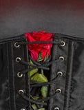 Bdsm gothic fetysza seksowny gorsecik z wzrastał Zdjęcie Royalty Free