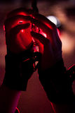 Bdsm handcuffs. With red light Stock Photography
