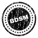 Grunge Textured BDSM Stamp Seal. BDSM stamp seal watermark with distress style. Black  rubber print of BDSM label with dirty texture. Rubber seal imitation has Royalty Free Stock Image