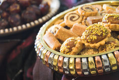 BDStudio Stock Photography. An array of Arabic sweet used during Ramadan, special occasions and general social events Stock Photography