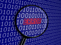 Błędu binarny kod Fotografia Stock