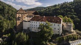 BeÄ  ov -捷克城堡寄生虫照片 库存照片