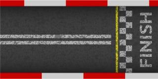 Beëindig lijn het rennen hoogste mening als achtergrond Het ontwerp van de kunst Geïsoleerd op witte achtergrond Eindig op kartra Royalty-vrije Stock Foto's