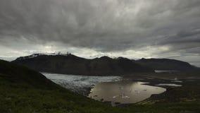 Beëindigen van tong van Skaftafellsjokull-gletsjer, Skaftafell ijsland stock fotografie