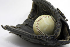 Beísbol con pelota blanda Fotos de archivo libres de regalías