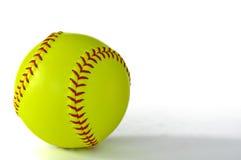 Beísbol con pelota blanda amarillo fotografía de archivo libre de regalías