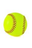 Beísbol con pelota blanda amarillo Imagen de archivo libre de regalías