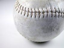 Beísbol con pelota blanda sucio Imágenes de archivo libres de regalías