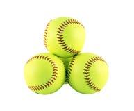 Beísboles con pelota blanda Fotografía de archivo libre de regalías