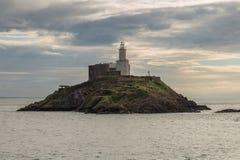 Bełkoty Przewodzą latarnię morską, Swansea, UK zdjęcie stock