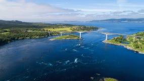 Bełkowiska maelstrom Saltstraumen, Nordland, Norwegia Saltstraumen prąd, Bodo obrazy royalty free