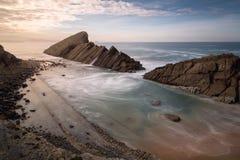 Bełkowisko w plaży Zdjęcie Royalty Free