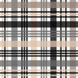 Beż, czarny i biały tartan szkockiej kraty Szkocki wzór ilustracja wektor