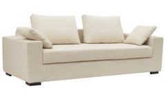 beżowa kanapa Zdjęcie Stock