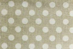 Beżowi i biały tablecloth wzoru tła Zdjęcie Royalty Free