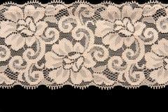 beżowy kwiatu koronki wzór Obrazy Stock