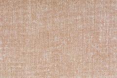 Beżu i białego dekoracyjny brezentowy tkaniny tekstury tło, zamyka up Obrazy Royalty Free