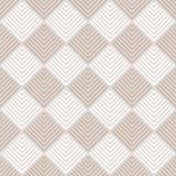 Beżu i białych pasiaści kwadraty ornamentują geometrycznej abstrakcjonistycznej tkaniny bezszwowego wzór, wektor Obrazy Royalty Free