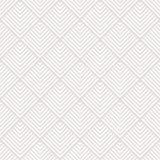 Beżu i białych pasiaści kwadraty ornamentują geometrycznej abstrakcjonistycznej tkaniny bezszwowego wzór, wektor Zdjęcie Royalty Free