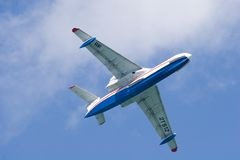 Be-200 in sky. Aircraft of the Beriev firm Royalty Free Stock Image