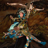 "Be absorbed-Yang Qiniang- Beijing Opera"" Women Generals of Yang Family"" Royalty Free Stock Photo"