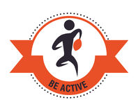 Be Active design Stock Image