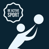 Be Active design Royalty Free Stock Photo