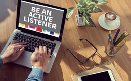 BE AN ACTIVE LISTENER Royalty Free Stock Photos