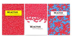 Be Active. Set Of Vector Motivational Posters, Cover Design. Notification Of Likes, Comments, Follow And Followers Royalty Free Stock Images