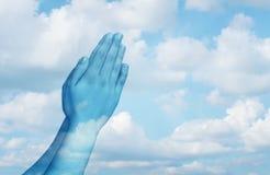 Be andligt liv arkivfoto