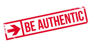 Be authentic stamp Royalty Free Stock Photography