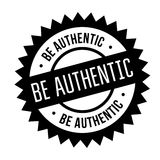 Be authentic stamp Stock Photos