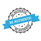 Be authentic stamp illustration Royalty Free Stock Photo