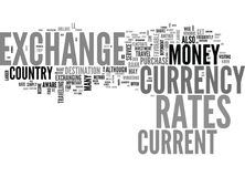 Be Aware Of The Exchange Rates When You Travel Word Cloud Stock Photos