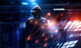 Be aware of hacker attack. Mixed media Stock Image