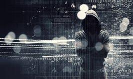 Be aware of hacker attack. Mixed media . Mixed media Stock Photos