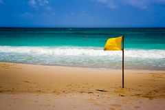 Be aware of high tides. A morning walk along Cancun beach i met the beauty of simplicity stock images