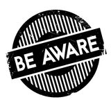 Be Aware rubber stamp Royalty Free Stock Image