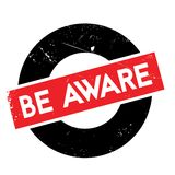 Be Aware rubber stamp Royalty Free Stock Photo