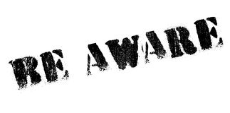 Be Aware rubber stamp Royalty Free Stock Images