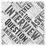 Be Aware to the Characteristic of your Interviewer word cloud concept  background Royalty Free Stock Photography