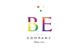 Be b e  creative rainbow colors alphabet letter logo icon. Be b e  creative rainbow colors colored alphabet company letter logo design vector icon template Stock Photo