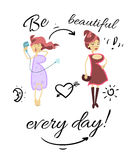 Be beautiful every day Royalty Free Stock Photos